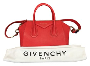 Givenchy Leather Grain Grained Satchel in Red