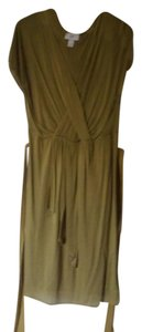 Ann Taylor LOFT short dress olive/green on Tradesy
