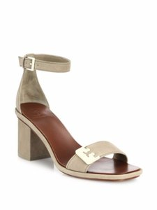 Tory Burch Suede Block Fumo Sandals