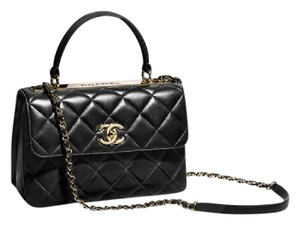 Chanel Top Gold Hardware Lambskin Cross Body Bag