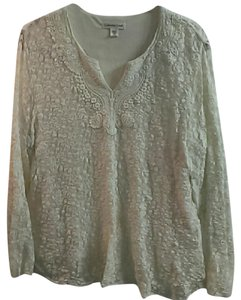 Coldwater Creek Lace Top Cream