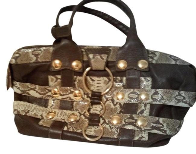 Item - Brown Novelty Leather with Studs Satchel