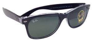 Ray-Ban New RAY-BAN Sunglasses RB 2132 6052 55-18 NEW WAYFARER Black on Clear