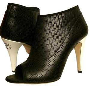 Chanel Perforated Open Toe Dotted Black/White Boots