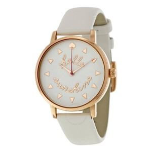 Kate Spade women's hello sunshine white leather watch
