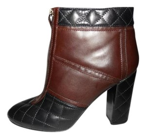 Chanel Quilted Two Tone Black/Brown Boots