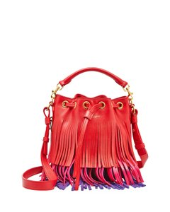 Saint Laurent Ysl Layered Fringe Crossbody Made In Italy Shoulder Bag