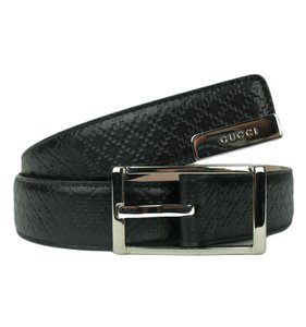 Gucci GUCCI 268239 Men's Small Diamante Belt with Rectangular Buckle 80-32