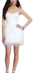 Bebe Sequin Feather Dress