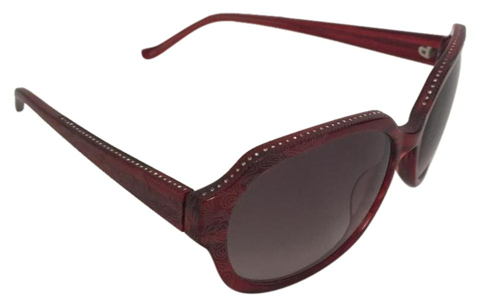 f0982e43c834b Judith Leiber Ruby With Swarovski Crystals Along Top and Temple Jl1169  Sunglasses