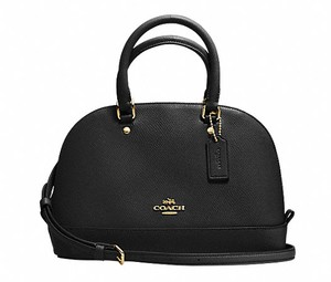 Coach Leather Dome F57555 Satchel in black