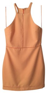 Elizabeth and James High Neck Racer-back Bright Fitted Dress