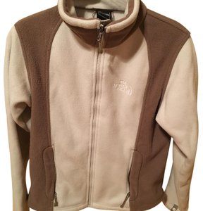 The North Face cream and tan Jacket