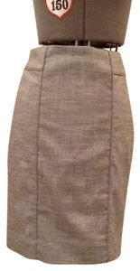 White House | Black Market Tweed Beige Pencil Skirt Beige tweed