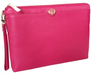 Tory Burch carnation red/ pink Clutch