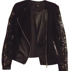 INC International Concepts black Leather Jacket