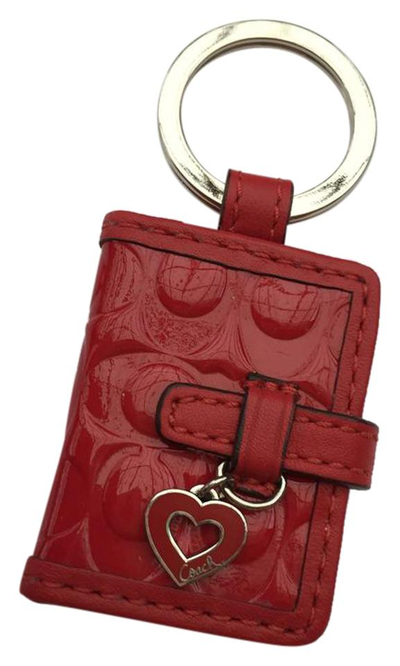 Coach Red Signature Picture Frame Keychain - Tradesy