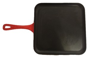 Le Creuset Le Creuset Griddle Pan; Enameled Cast Iron Square Griddle Pan in Flame (11