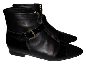 Chanel Pointed Toe Buckled Black Boots