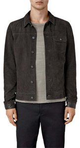 AllSaints Suede Oversized Military Jacket