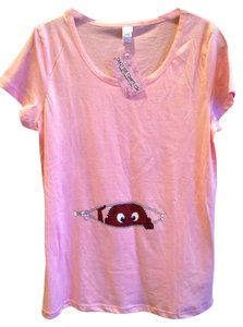 Crazy Dog Tshirt Co. Pink Maternity T-shirt