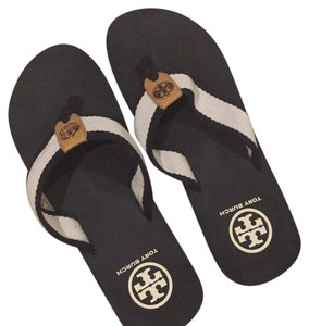 Tory Burch black and cream Sandals