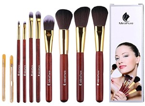 MiroPure 8 - Piece Kabuki Make up Brush Set + 2 Blackheads Removers