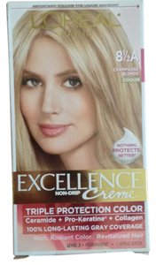 L'Oréal Excellence NEW Box NO-DRIP Creme Hair Color-8 1/2 A-CHAMPAGNE BLONDE