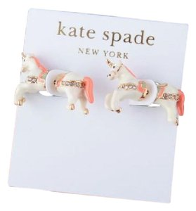 Kate Spade KATE SPADE 12K Gold Plated Unicorn Double Sided Stud Earrings-Dust Bag