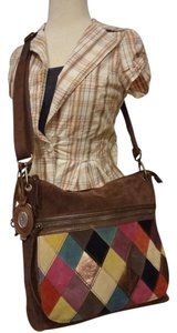 Fossil Patchwork Shoulder Bag