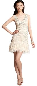 Sue Wong Feather Ostrich Gatsby 1920 Vintage Dress