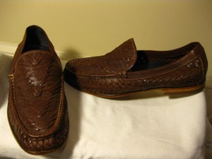Cole Haan Brown Weaved Leather Dress 11.5 M Shoes