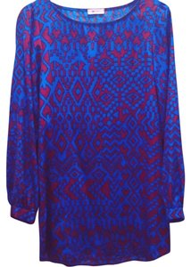 Everly short dress blue and red on Tradesy