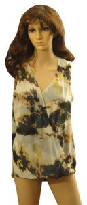 Bar III Top White/Olive Green/Yellow