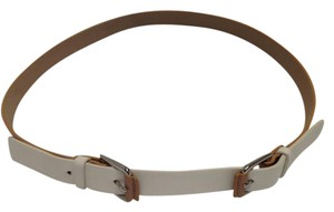 Cole Haan Unique Ivory / Tan Leather Belt