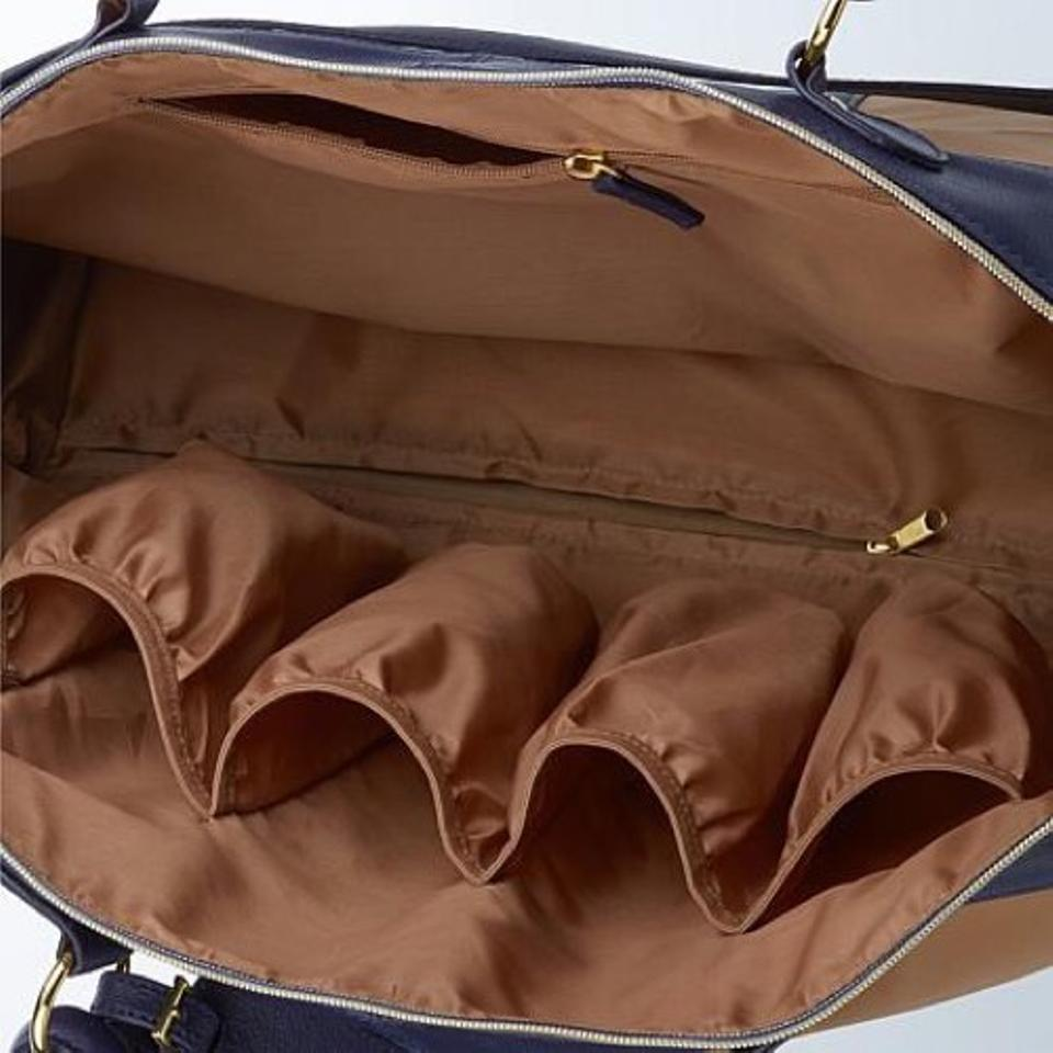 96b2e258f Joy Mangano New/Joy Set Rich Saddle Colorblock Combination Real  Leather/Poly Lined Weekend/Travel Bag - Tradesy