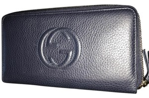Gucci Soho Large Zipper Continental Wallet