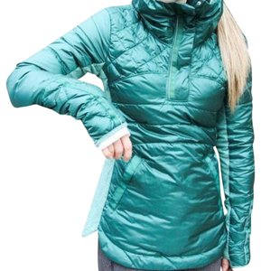 Lululemon Lululemon new with tags down for a run jacket forage Teal
