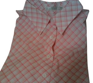 Foxcroft Button Down Shirt pale pink tattersall