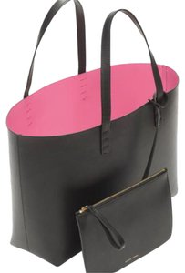 Mansur Gavriel Tote in Black with Bright Pink