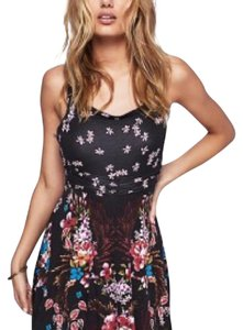 Free People short dress Black with Beautiful Tropical Prinyt. on Tradesy