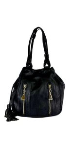 See by Chlo Black Leather Cherry Vertical Zip Tote