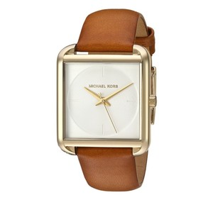 ff1e578c8f6d Michael Kors Michael Kors luggage tan leather lake watch