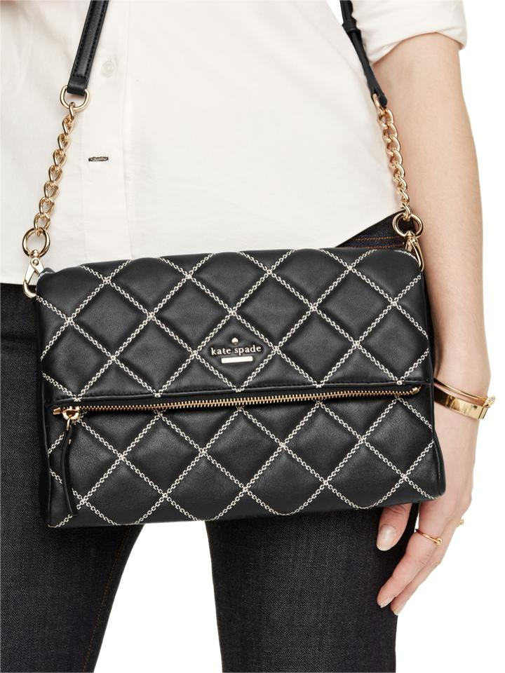 Kate Spade Emerson Place Marsala Quilted Black Cement Leather