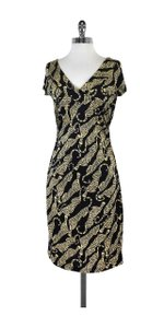 Diane von Furstenberg short dress Black Yellow Tiger Print Silk on Tradesy