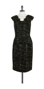 David Meister short dress Black Green Brown Woven on Tradesy