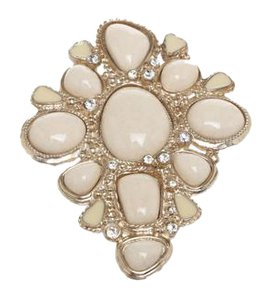 Chanel Chanel Gold Enamel Crystal and Stone Brooch 08A