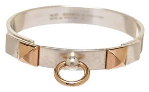 Hermès Hermes Silver and Rose Gold CDC Collier de Chien Bracelet