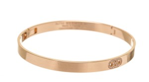 Hermès Hermes 18K Rose Gold Diamond H D'Ancre Bracelet PM NEW
