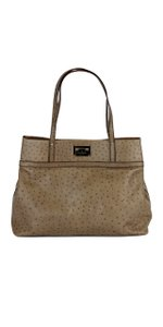 Kate Spade Tan Ostrich Leather Tote